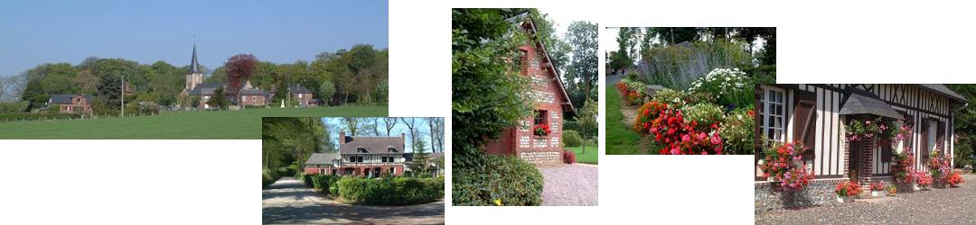 Maison fleurie à Autretot