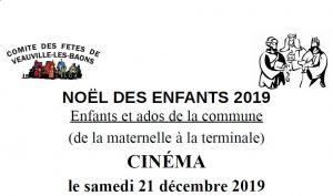 Noël pour les enfants de Veauville-les-Baons @ RDV devant le Cinéma d'Yvetot