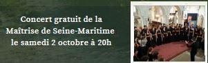 Concert gratuit de la Maîtrise de Seine Maritime @ Eglise de Veauville-les-Baons